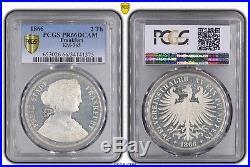 2 Thaler 1866 Frankfurt Km-365 Germany German States Pcgs Pr66dcam Top Pop 1