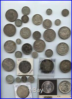 20 + Pounds Worldwide Coins 64+ Ounces Of Silver Coins 1700's Present