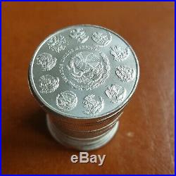 20 x 2013 Mexican Libertad 1 oz silver coins tube FREE Global SHIPPING