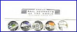 2004 GREAT RAIL JOURNEYS OF THE WORLD 5 X 1oz Silver Proof Coin