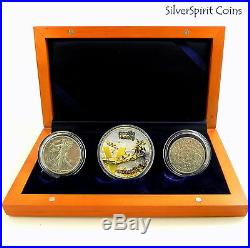2005 END WORLD WAR II ANNIVERSARY VICTORY IN THE PACIFIC Silver Coin Set