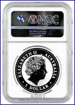 2008-P Australia 1 oz Silver Kookaburra $1 NGC MS70 Exclusive Label SKU31972