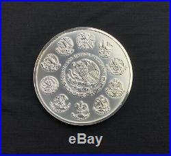 2010 Mexico 1 kilo Silver Aztec Calendar Coin Free Ship