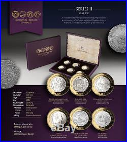 2012 Heritage Numismatico PF 6 coin Treasure Coins of Mexico 2nd Set