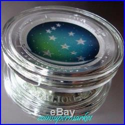 2013 Australia Southern Sky PAVO 1oz Silver Proof Colored Domed Coin COA & Box