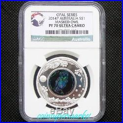 2014 Australia Opal Series #6 Masked Owl 1oz Silver Proof Coin NGC PF70 UC