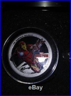 2014 Niue Marvel The Avengers $2.999 Silver Proof 4 Coin Set Box COA Hulk Thor