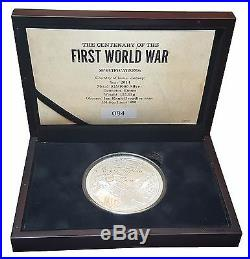 2014 The Centenary of the First World War 5 Ounce Silver Proof £10 Coin 9