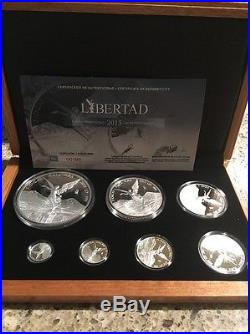 2015 Official 7 Coin Libertad Silver Proof Set #193/250