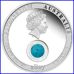 2015 Treasures of the World North America Turquoise 1 oz $1 Silver Coin NGC PF69