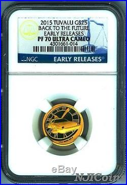 2015 Tuvalu 2015 Back To The Future Silver Gold 3-coin complete set NGC PF70 ER
