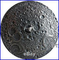 2016 1 Oz Silver LUNAR METEORITE NWA 10546 Nano Chip Coin 1000 Fr Burkina Faso