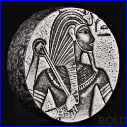2016 5 oz. 999 Silver Republic of Chad King Tut Coin by Scottsdale Mint