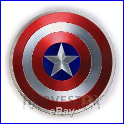 2016 Captain America Shield 2 Oz Dome-shaped Coin Collector Case With Extras