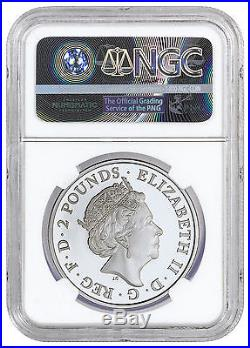 2016 Great Britain 2 Pound 1 oz. Proof Silver Britannia NGC PF69 UC ER SKU42053