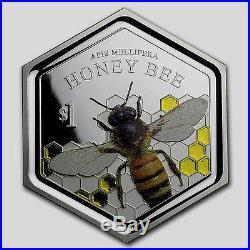 2016 New Zealand 1 oz Silver $1 Honey Bee Coin! SCARCE