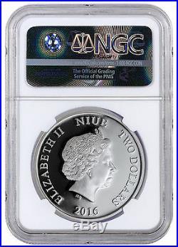 2016 Niue $2 1 oz. PF Silver Disney Mickey Plane Crazy NGC PF70 UC ER SKU43938