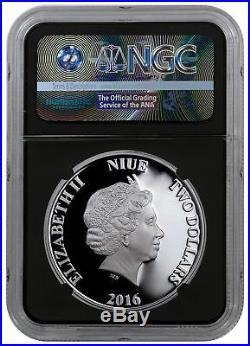 2016 Niue Star Wars Classic Yoda 1 oz Silver First 2500 NGC PF70 UC Blk SKU44488