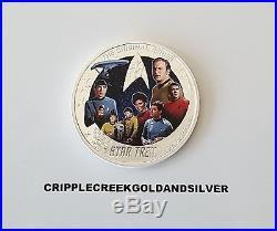 2016-P $2 Tuvalu Star Trek 50th Anniversary 2oz. 999 Silver Proof Coin