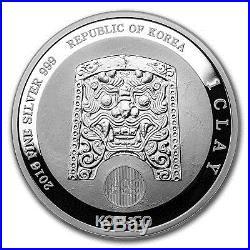 2016 South Korea 1 oz Silver 1 Clay Chiwoo Cheonwang Proof