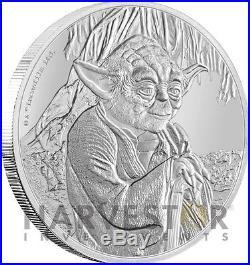 2016 Star Wars Classics Yoda 1 Oz. Silver Coin Ogp Coa Third In Series