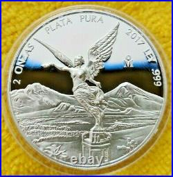 2017 2 oz Silver Libertad PROOF! Coin in Capsule Mintage of 3,050 ONLY