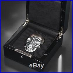 2017 $25 Palau Big Skull Antique Finish 1/2 kilo. 999 Silver Coin