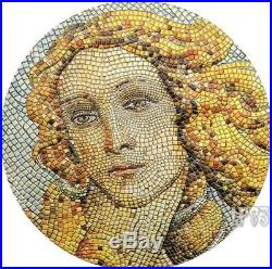 2017 3 Oz Silver BIRTH OF VENUS GREAT MICROMOSAIC PASSION High Relief Coin
