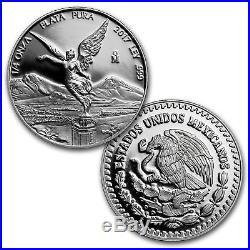 2017 5 Coin Mexican LIBERTAD Silver Proof 1 oz 1/2 oz 1/4 oz 1/10 1/20 Box Set