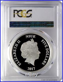 2017 $5 Niue Star Wars Han Solo 2oz. 999 Silver UHR Coin PCGS PR70DCAM FD