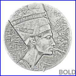 2017 5 oz. 999 Silver Republic of Chad Queen Nefertiti by Scottsdale Mint