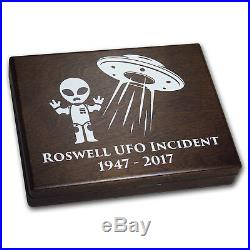 2017 Burkina Faso 2-Coin 1 oz Silver Roswell UFO Incident SKU#177498