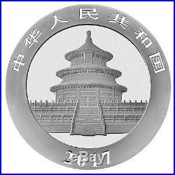2017 China 10 Yuan 30g Silver Panda Sheet of 15 (Mint Caps) SKU43870