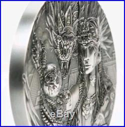 2017 Cook Island $20 QUETZALCOATL Gods Of The World 3 Oz Silver Coin