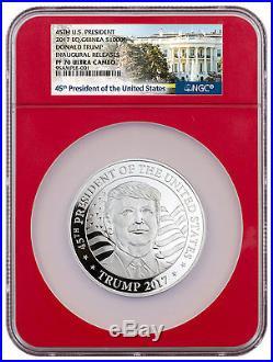 2017 Eq. Guinea 1000F 1 oz. Silver Donald Trump NGC PF70 UC Inaugural SKU45185