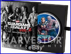 2017 Marvel Guardians Of The Galaxy 1 Kilo Silver Coin Full Color Only 50