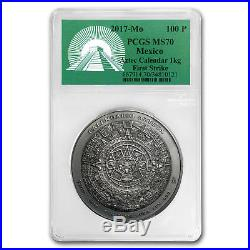 2017 Mexico 1 kilo Silver Aztec Calendar Antiqued MS-70 PCGS (FS) SKU #163601