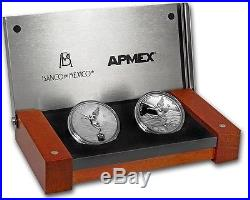 2017 Mexico 2-Coin Silver Libertad Proof/Reverse Proof Set. Limited Mintage 500