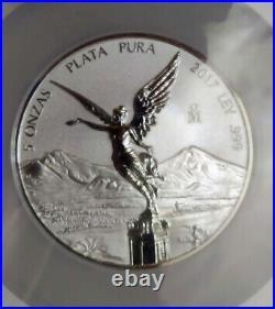 2017 Mexico Silver Libertad 5 Oz Reverse Proof PL-70