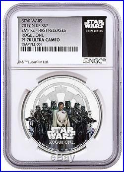 2017 Niue $2 1 oz Silver Star Wars Rogue One Empire NGC PF70 FR SKU43926
