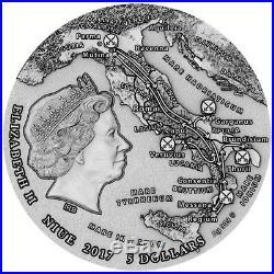 2017 Niue 2 oz Great Commanders Spartacus Slave Revolt Silver Coin