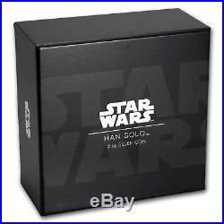 2017 Niue 2 oz Silver $5 Star Wars Han Solo Ultra High Relief