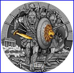 2017 Niue Ares Ultra High Relief Silver Coin Gods Series (1 Of 3)
