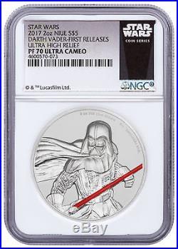 2017 Niue Star Wars Darth Vader UHR 2 oz Silver NGC PF70 FR SKU49475
