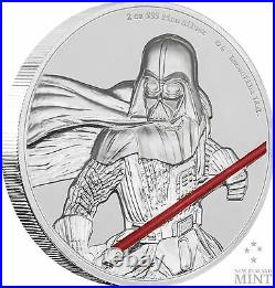 2017 Niue Star Wars Darth Vader Ultra High Relief 2 Oz