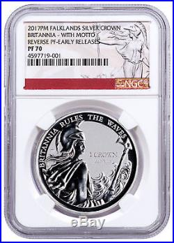 2017-PM FI Silver Britannia Rules Waves Silver Rev WithMotto NGC PF70 ER SKU49184