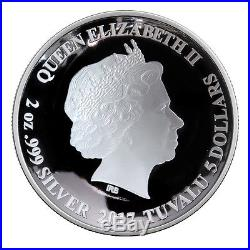 2017 Tuvalu $5 2 oz. Gilt Proof Silver Marvel Doctor Strange In OGP SKU44020