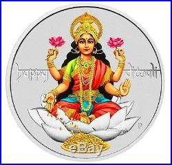 2017 Tuvalu Diwali Festival 1oz. 9999 Silver $1 Coin Mint-Sold-Out
