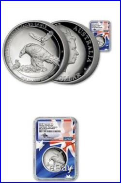 2018 $1 Australia Wedge Tailed Silver Eagle Ngc Ngc Pf70 High Relief Mercanti Fr
