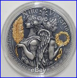 2018 2 Oz Silver $5 VICTORIA AND NIKE Strong and Beautiful Goddesses Coin